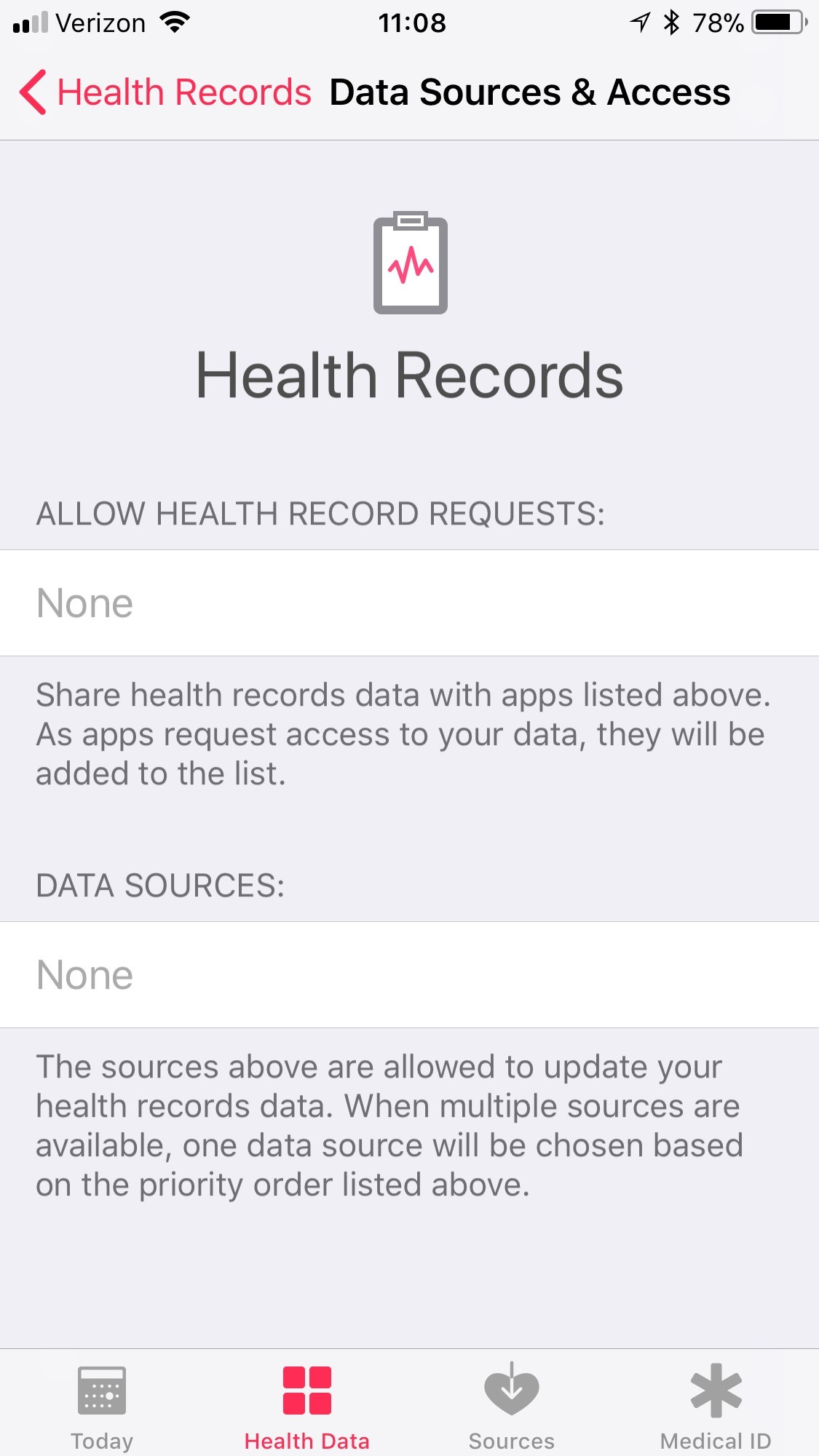 iPhone health app holds your personal healthcare data